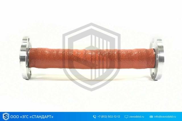 Металлорукав герметичный в термозащите с фланцами